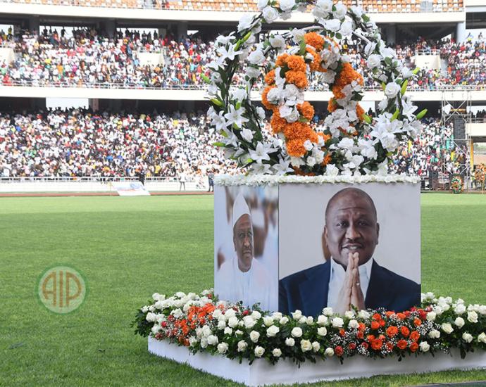 Hommage du RHDP à l'ex-Premier ministre Hamed Bakayoko au stade d'Ebimpé, le 17 mars 2021